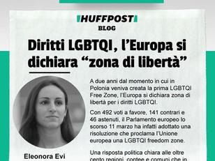L'EUROPA SI TRASFORMA IN UNA #LGBTQIFREEDOMZONE, IN DIFESA DEI DIRITTI DI TUTTI.