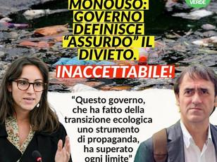 INACCETTABILE ATTACCO DEL GOVERNO AL BANDO PLASTICA MONOUSO