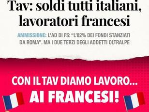 DISASTROSO PER L'AMBIENTE, FLOP ECONOMICO, MA ALMENO IL TAV DÀ LAVORO......AI FRANCESI!