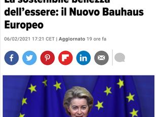 LA SOSTENIBILE BELLEZZA DELL'ESSERE: IL NUOVO BAUHAUS EUROPEO