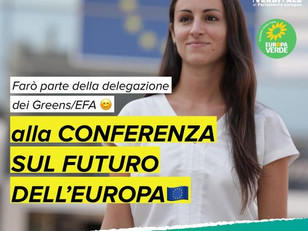 SONO STATA SCELTA PER I LAVORI DELLA CONFERENZA SUL FUTURO DELL'EUROPA