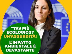 TAV: BASTA GREENWASHING, NON È POSSIBILE RIDURNE L'IMPATTO!