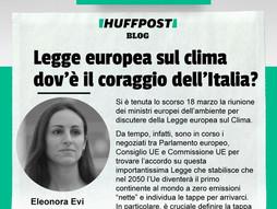 LEGGE EUROPEA SUL CLIMA: L'ITALIA SI DIMOSTRI AMBIZIOSA E CORAGGIOSA!