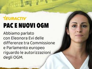 OGM: LA MIA INTERVISTA AD EURACTIV