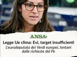 L'ACCORDO SU LEGGE CLIMA E' SEMPLICEMENTE INSUFFICIENTE