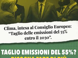 NON ABBASTANZA AMBIZIOSO L'ACCORDO DEI GOVERNI SULLA LEGGE EUROPEA SUL CLIMA