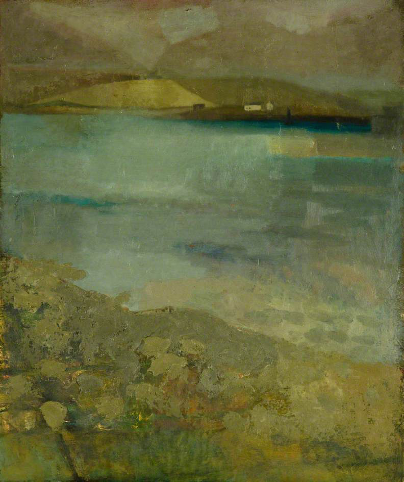 Sylvia Wishart Evening, Stromness Harbour c. 1960's © the artists estate  Courtesy of The Pier Arts Centre Collection