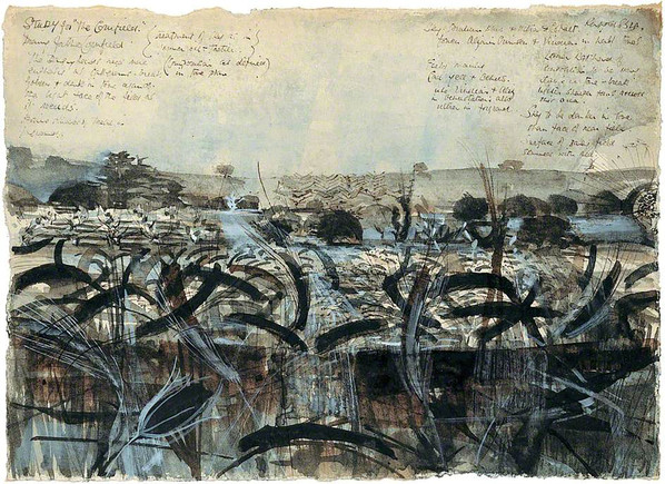 Alan Reynolds First Drawing for Summer (The Seasons) 1954-6 © the artists estate  Courtesy of The Pier Arts Centre Collection
