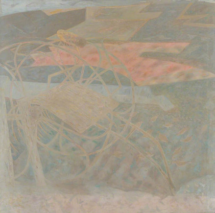Sylvia Wishart Barley fields near the sea c. 1980s © the artists estate  Courtesy of The Pier Arts Centre Collection