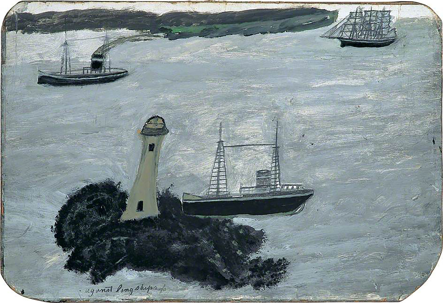 Alfred Wallis Against Longships fog c. 1934-8  Courtesy of The Pier Arts Centre Collection