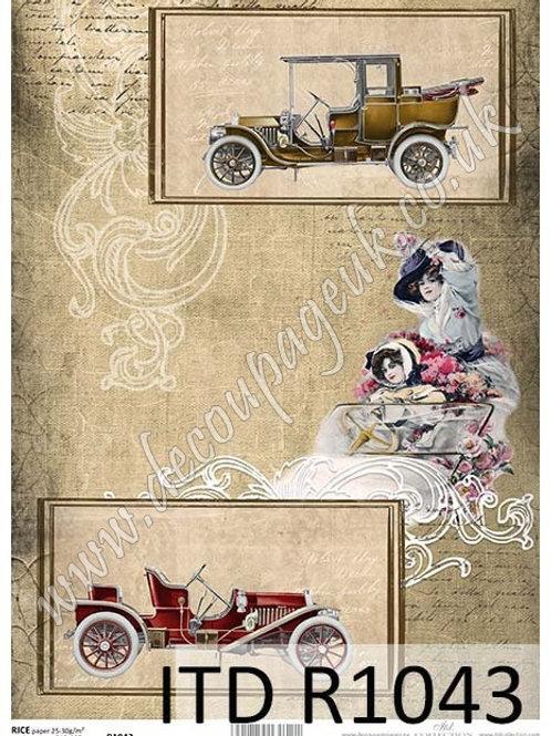 A4 rice paper R1043 Vintage car