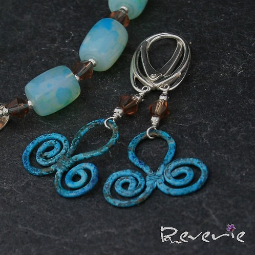 Hellada - one of a kind handcrafted jewellery set