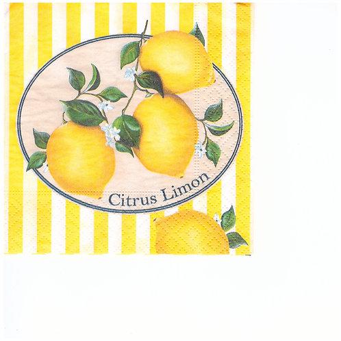 Napkins C051 cocktail size 25x25cm Lemons