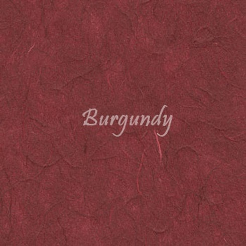 Burgundy Plain Mulberry (rice) paper 45x64cm