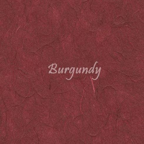 Burgundy Plain Mulberry (rice) paper 45x64cm
