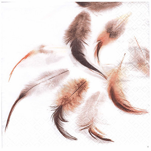 Napkins N966 Lunch size 33x33cm Feathers