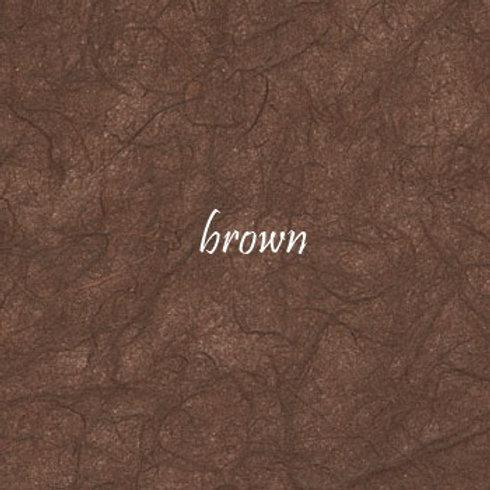 Brown Plain Mulberry (rice) paper 45x64cm