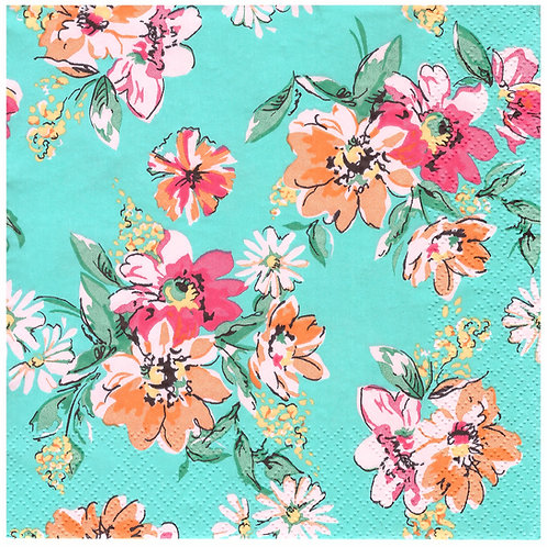 Napkins N1176 Lunch size 33x33cm Flowers