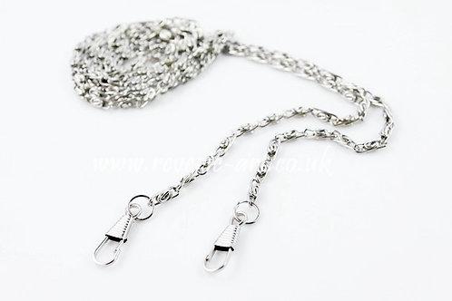 45 inches 115cm Silver Purse Chain