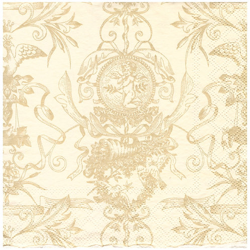 Napkins N1148 Lunch size 33x33cm Cherubs flowers pattern