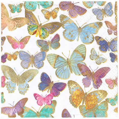Napkins N1072 Lunch size 33x33cm Butterflies