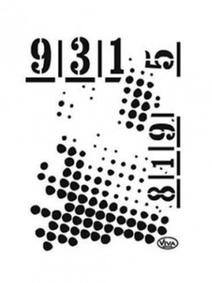 Universal Stencil A5 - Dots & Numbers