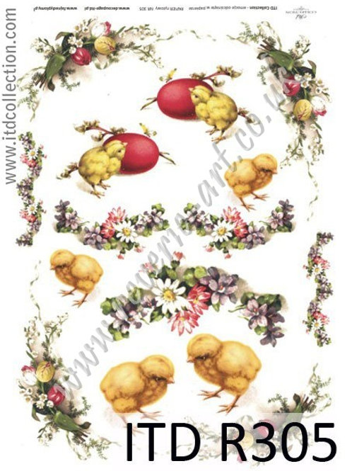 A4 rice paper R305 Vintage Easter