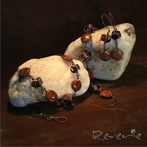 The Love knots - unique handcrafted jewellery set