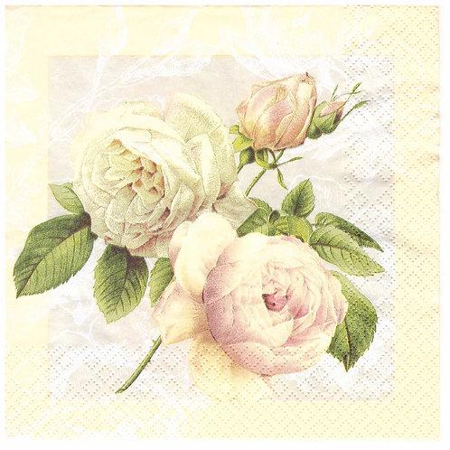 Napkins Lunch size 33x33cm Vintage roses