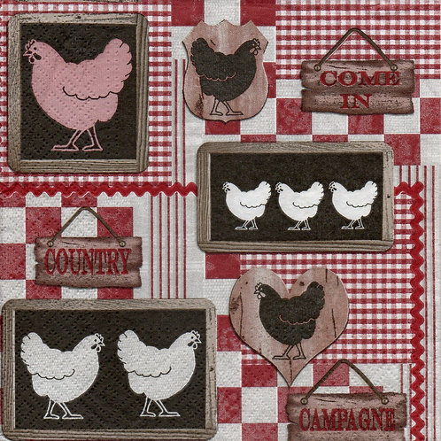 Napkins N604 Lunch size 33x33cm