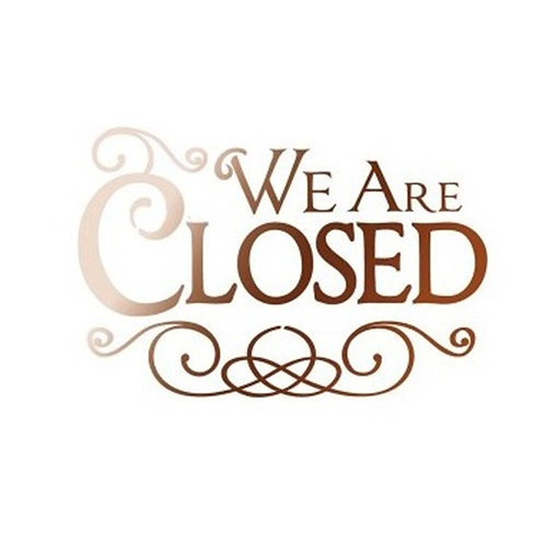 Stamperia Stencil 20x15 cm We are closed