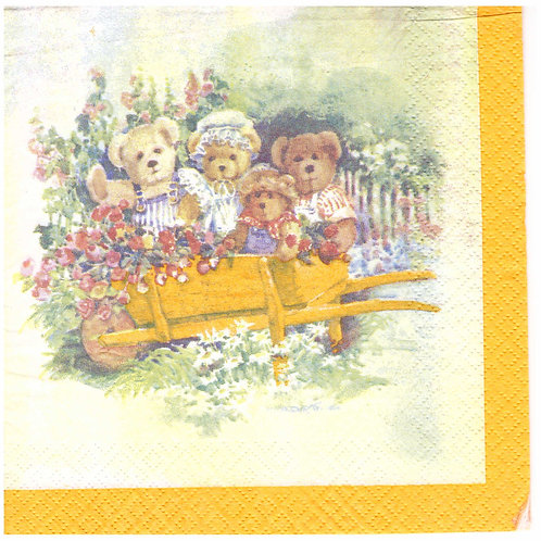 Napkins N1055 Lunch size 33x33cm Bears family