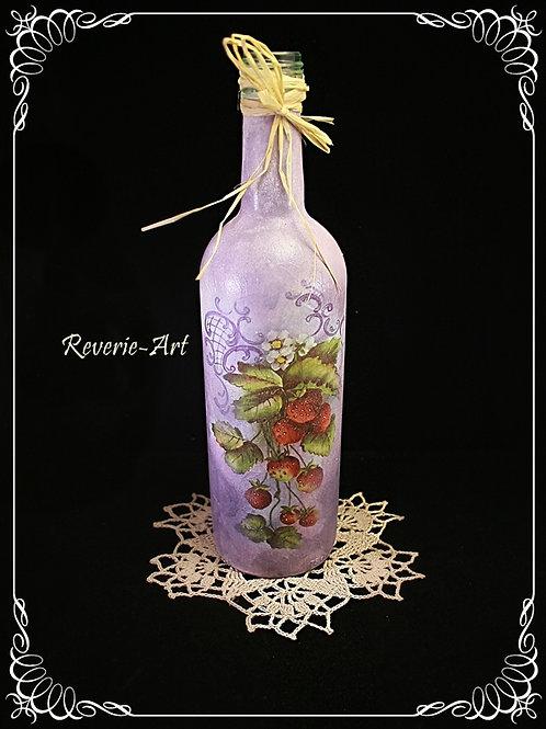 Strawberries- decorative bottle