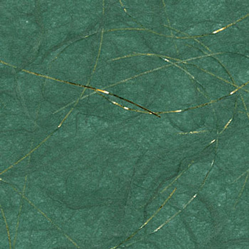A4 Plain mulberry rice paper with gold strand