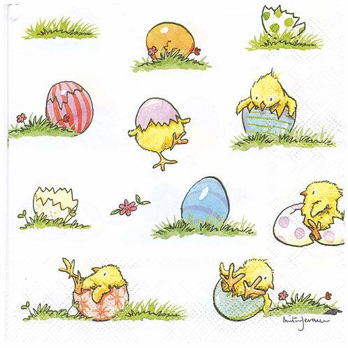 Napkins N937 Lunch size 33x33cm Little chicks