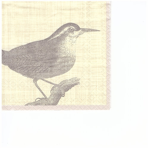 Napkins C057 cocktail size 25x25cm Bird