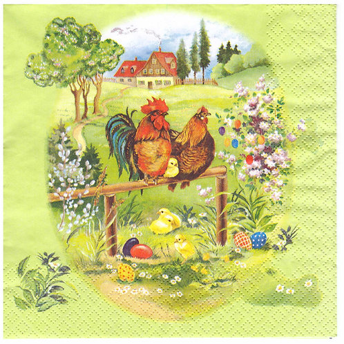Napkins N945 Lunch size 33x33cm Easter