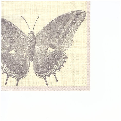 Napkins C056 cocktail size 25x25cm Butterfly