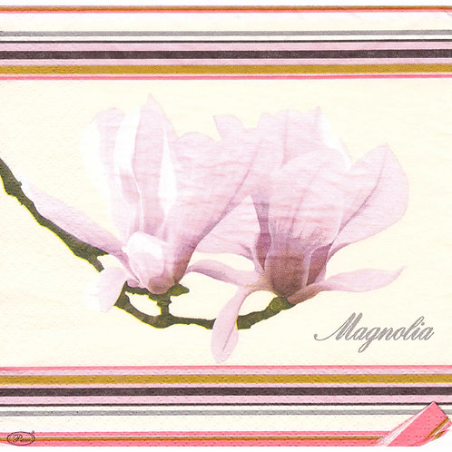 Napkins N1096 Lunch size 33x33cm Flowers Magnolia
