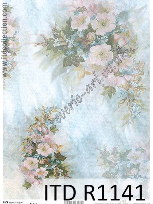 A4 rice paper R1141 Vintage roses