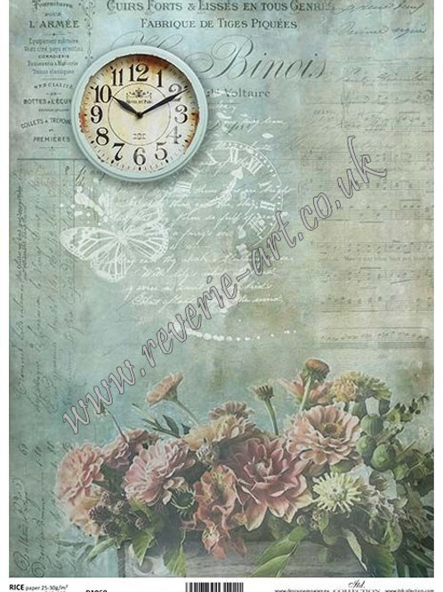 A4 rice paper R1068 Vintage backgrounds