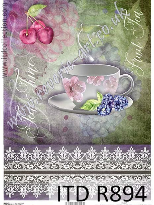 A4 rice paper R894 Tea time