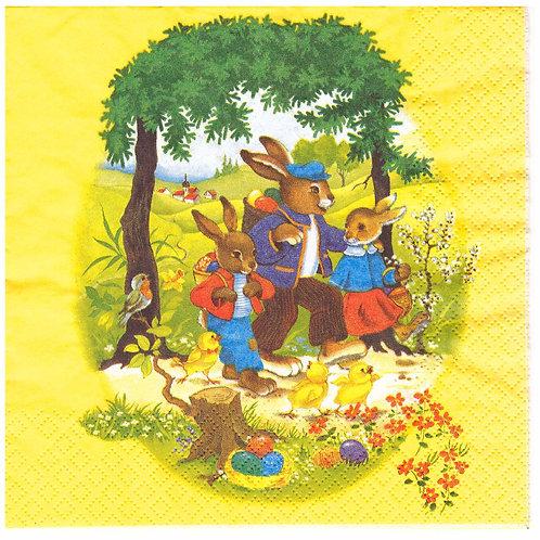 Napkins N941 Lunch size 33x33cm Easter eggs hunt