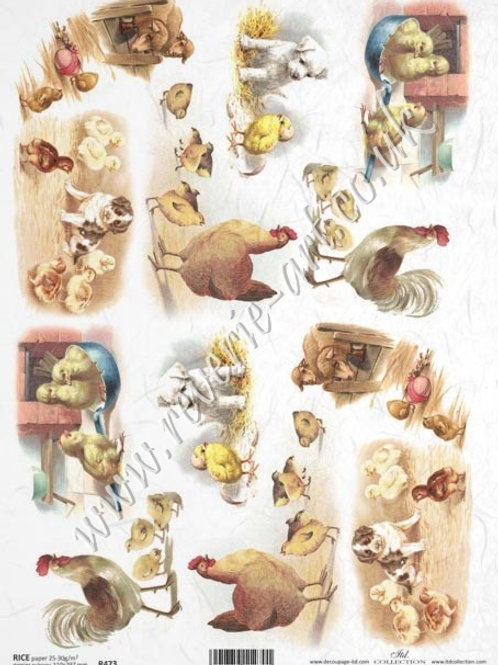 A4 rice paper R473 Vintage Easter