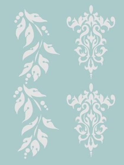 Classic Texture stencils - Americana - Brocade & Bordures