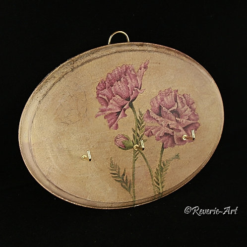 Poppies - key holder plaque