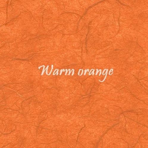 Warm orange Plain Mulberry (rice) paper 45x64cm