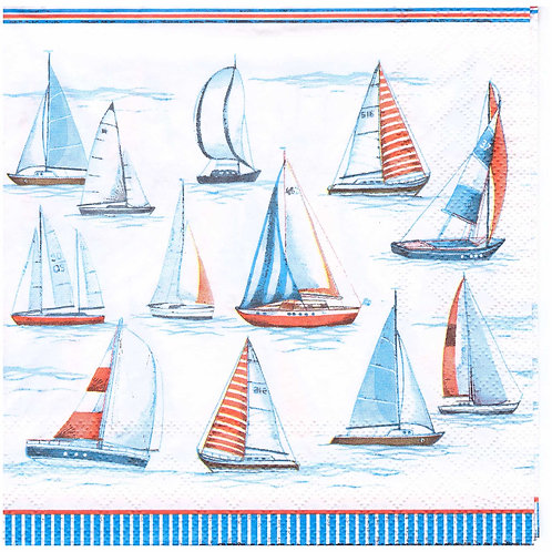 Napkins N1001 Lunch size 33x33cm Sea, yacht