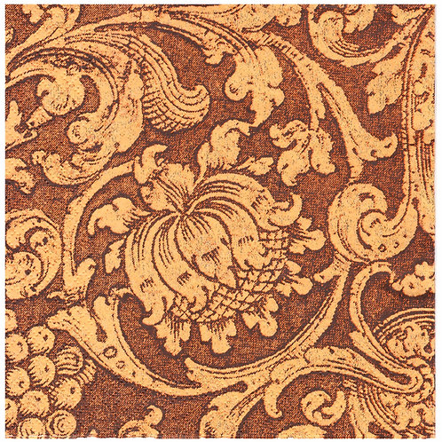 Napkins N1141 Lunch size 33x33cm Brown and orange flowers pattern