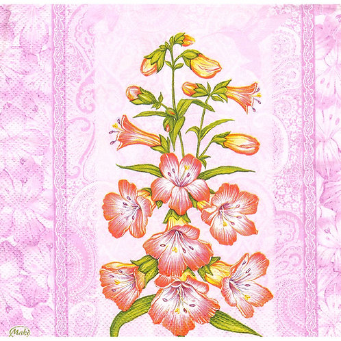 Napkins N1103 Lunch size 33x33cm Flowers